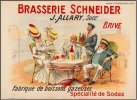 Brasserie Schnieder Original Vintage French Advertising Poster