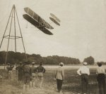 Wright Brothers Historic Test Flight Photo, 1908