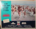 "Jaws 1975 ""same year' re-release lobby card movie poster 2"