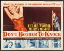 Don't Bother to Knock Vintage Half Sheet Marilyn Monroe