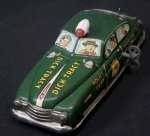 Dick Tracy Marx Tin Wind-up Police Car, 1949 WORKS!