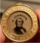 Abraham Lincoln & Johnson Ferrotype Campaign Token, 1864