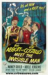 Abbott & Costello Meet Invisible Man - one sheet - 1951
