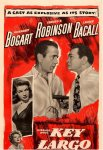 Key Largo Original Vintage Movie Poster Insert Humphrey Bogart