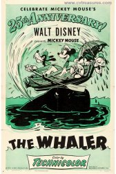 Walt Disney Mickey Mouse in The Whalers Vintage Movie Poster