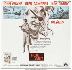 True Grit Original Vintage Western Six Sheet Movie Poster