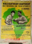 Muhammad Ali George Foreman Rumble Vintage BoxingPoster Cape Cod