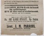 Civil War Recruiting Broadside Poster Boston Artillery Company