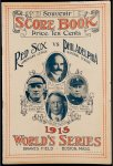 Red Sox 1915 World Series ORIGINAL Program Babe Ruth