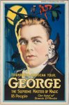 George Vintage Magic Poster Stone Lithograph 1920's One Sheet