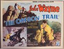 Oregon Trail Vintage Western Movie Poster Half Sheet John Wayne