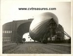 Hindenburg Original News Wire/Press release Photo 1936 docking