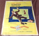 North by Northwest Vintage Movie Poster Hitchcock Cary Grant