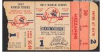 World Series Ticket Stub Yankee Stadium Jackie Robinson 1947