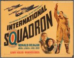 International Squadron Movie Poster Title Card Ronald Reagan