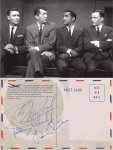 Rat Pack Autographs Frank Sinatra Sammy Davis Peter Lawford