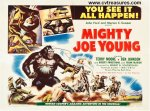 Mighty Joe Young Original Vintage half Sheet Movie Poster