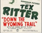 Down the Wyoming Trail Vintage Movie Poster 3 sheet Tex Ritter