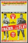 Muhammad Ali and Joe Frazier Autographed Fight Poster, 1971