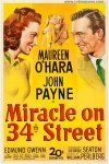 Miracle on 34th Street Vintage Movie Poster One Sheet