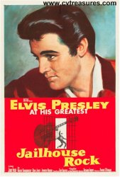 Jailhouse Rock Vintage Movie Poster One Sheet Elvis Presley 1957