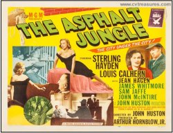 Asphalt Jungle Vintage Movie Poster Half Sheet Marilyn Monroe