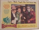 Batman original 1966 lobby card movie poster four villians