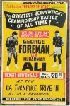 Muhammad Ali George Foreman AUTOGRAPHED original fight poster