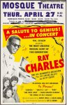 Ray Charles VERY RARE Original Vintage Concert Poster 1961