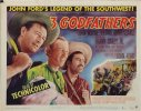 Three Godfathers, John Wayne Title Card vintage movie poster