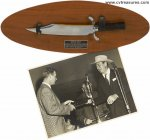 John Wayne Personally Gifted ALAMO Knife with Autographed Photo