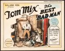 Best Bad Man Original Vintage Title Card Tom Mix 1925