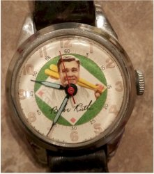 Babe Ruth Exacta Wristwatch, 1948 Working Condition!