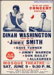 Dinah Washington VERY RARE Original Vintage Concert Poster 1962