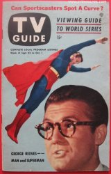 TV Guide George Reeves Superman cover, 1953 rare issue Unused
