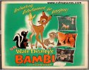 Bambi Original Vintage Movie Poster Half Sheet