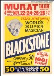 Harry Blackstone Original Vintage One Sheet Magic Poster 1947