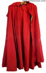 Boris Karloff Personally Owned & Worn Vintage Red Cape