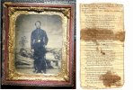 Civil War Soldier Photo Tintype Memorabilia w/Obit