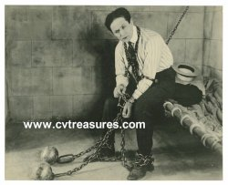 Harry Houdini RARE Original Vintage Photo Jail Escape 1918 1X