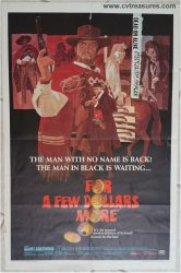 For a Few Dollars More Vintage Movie Poster Clint Eastwood