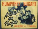 Across the Pacific, 1942 Humphrey Bogart Vintage Title Card