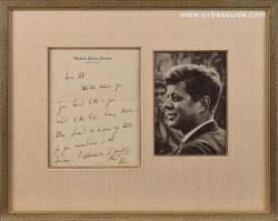 John Kennedy JFK Signed Autographed Letter St. Lawrence Seaway