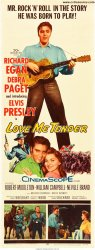 Love Me Tender RARE Insert Movie Poster Elvis Presley