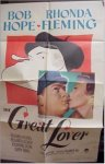 """Great Lover"" Bob Hope one sheet 1949"