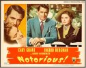 Alfred Hitchcock's Notorious movie poster lobby card, 1946 2