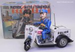 Nomura Vintage Toy Tin Patrol Auto-Tricycle Motorcycle w/Box