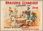 Brasserie Schnieder ?Original Vintage French Advertising Poster