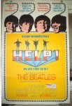 Beatles Help, 1965 vintage one sheet movie poster