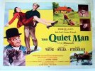Quiet Man John Wayne vintage half sheet movie poster, 51